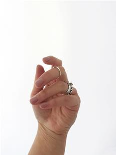 Minimalist Knuckle Ring in Sterling Silver