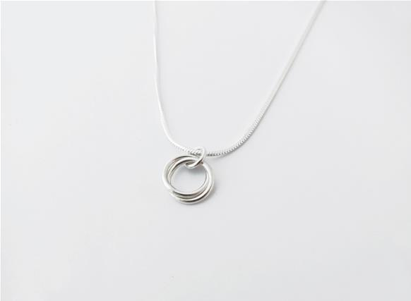 Sterling silver infinity knot pendant